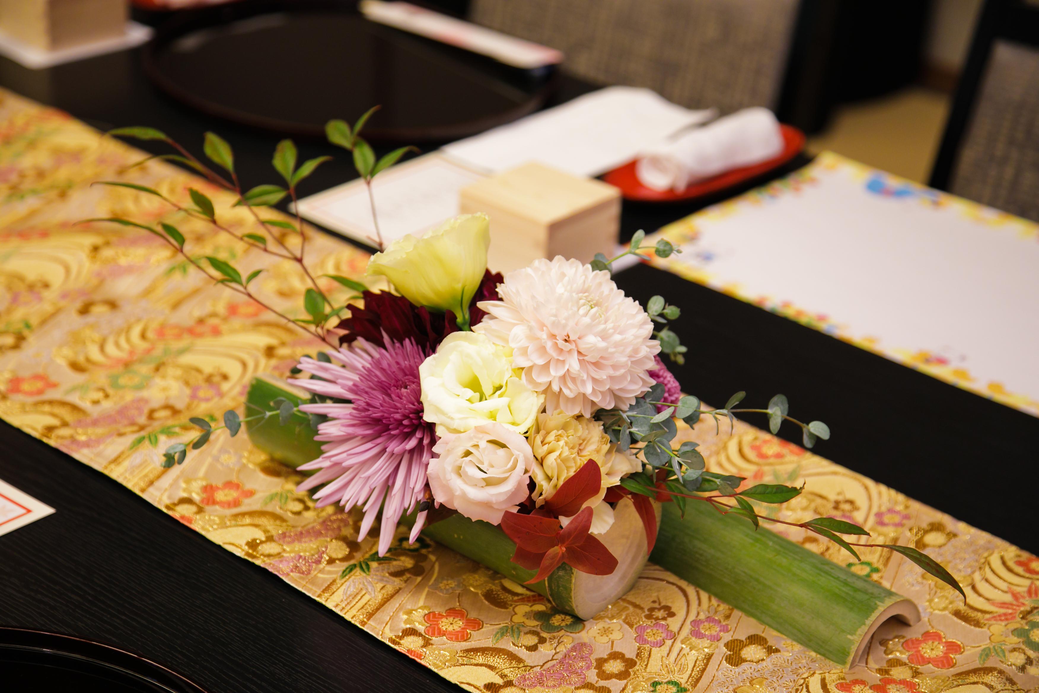 和風の結婚式に合う装花コーディネート特集 ブログ 三渓園で結婚式